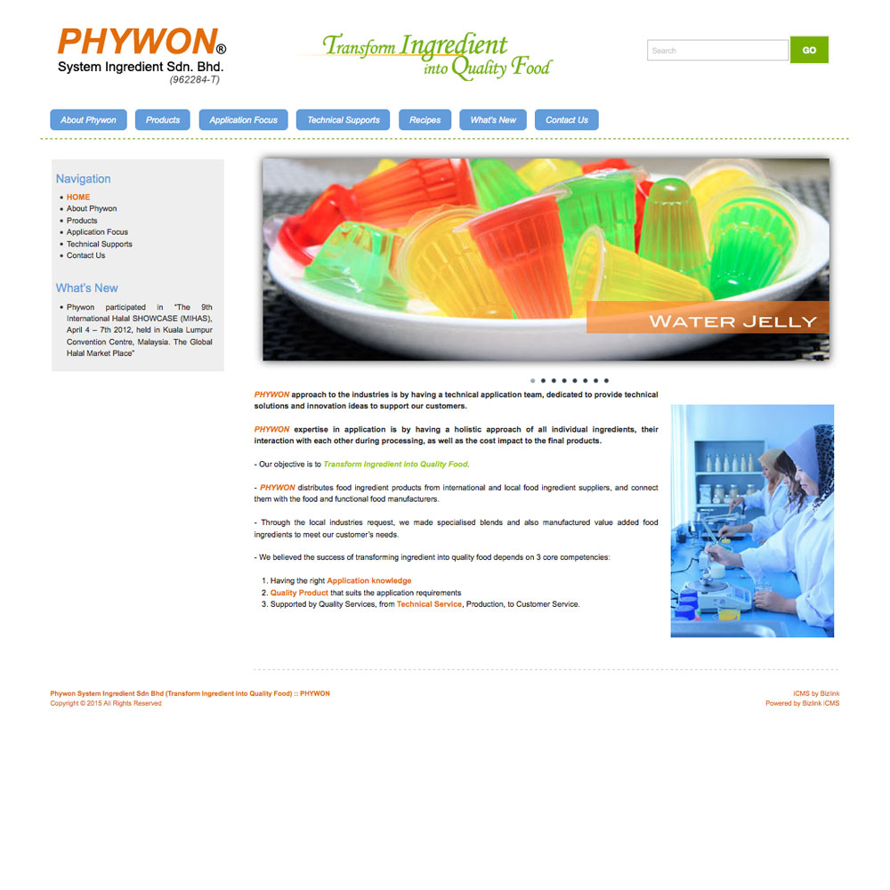 Phywon Ingredients