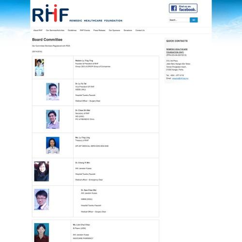 Remedies Healthcare Foundation (RHF)